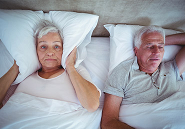 Snoring may be a sign of obstructive sleep apnea.
